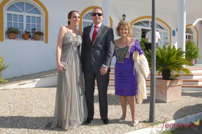 Rocío Carrasco, Fidel Albiac y María Teresa Campos en la boda de Chayo Mohedano y Andrés Fernández en
